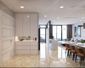 thiết kế căn hộ vinhomes golden river - tiền sảnh