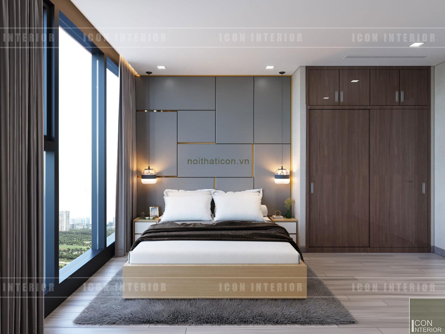 thiết kế căn hộ vinhomes golden river - phòng ngủ master