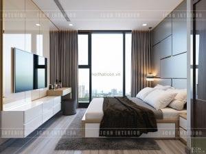 thiết kế căn hộ vinhomes golden river phòng ngủ master