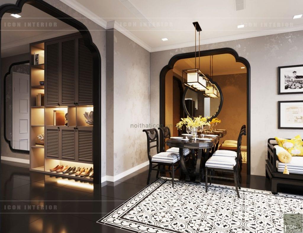 phòng ăn căn hộ aqua 3 vinhomes golden river