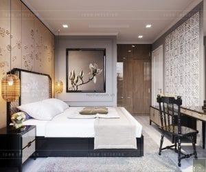 phòng ngủ căn hộ aqua 3 vinhomes golden river
