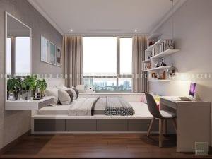 thiết kế nội thất phòng ngủ nhỏ hiện đại