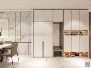 thiết kế nội thất tiền sảnh hiện đại