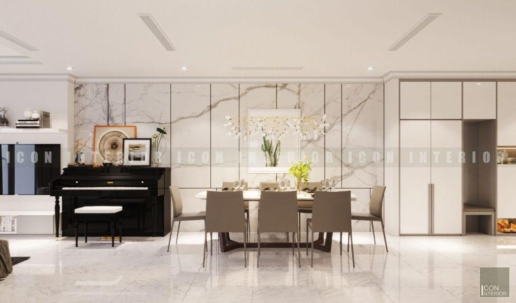 thiết kế nội thất phòng khách bếp hiện đại