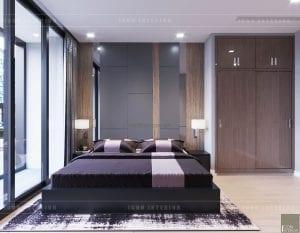 thiết kế nội thất căn hộ chung cư cao cấp phòng master