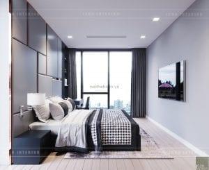 thiết kế nội thất căn hộ chung cư cao cấp phòng ngủ