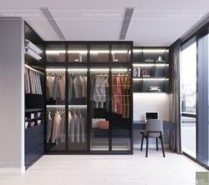 thiết kế nội thất căn hộ chung cư cao cấp phòng thay đồ