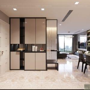 thiết kế nội thất căn hộ chung cư cao cấp tiền sảnh