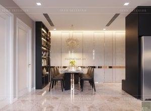 thiết kế nội thất căn hộ chung cư cao cấp phòng ăn