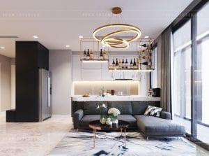 thiết kế nội thất căn hộ chung cư cao cấp phòng khách