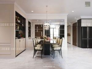 mẫu thiết kế phòng ăn căn hộ chung cư đẹp