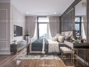 mẫu thiết kế phòng master căn hộ chung cư đẹp