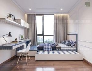 mẫu thiết kế phòng ngủ nhỏ căn hộ chung cư đẹp