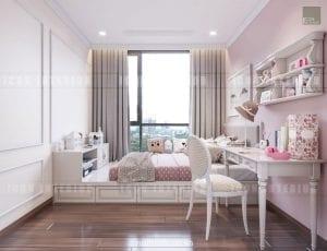 mẫu thiết kế phòng bé căn hộ chung cư đẹp