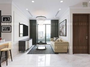 mẫu thiết kế phòng khách căn hộ chung cư đẹp