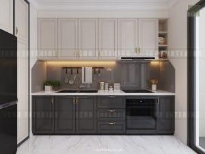 mẫu thiết kế nhà bếp căn hộ chung cư đẹp