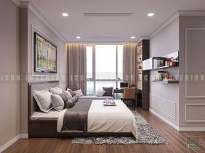 thiết kế phòng ngủ chung cư cao cấp