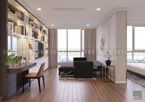 thiết kế phòng master chung cư cao cấp