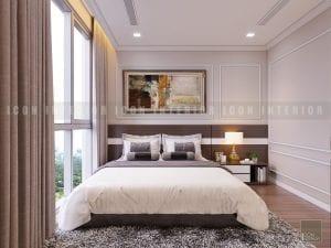 thiết kế phòng ngủ master chung cư cao cấp
