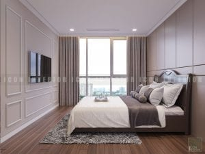 thiết kế phòng ngủ nhỏ chung cư cao cấp