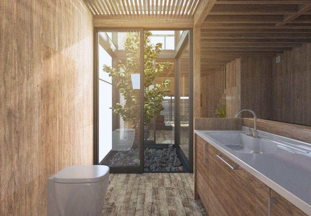 Phòng tắm hiện đại kiểu Nhật