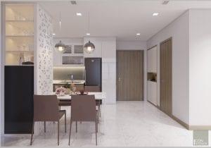 thiết kế nội thất nhà xinh - phòng ăn