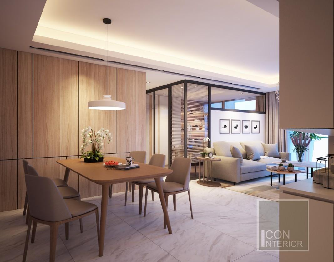 thiết kế chung cư 45m2