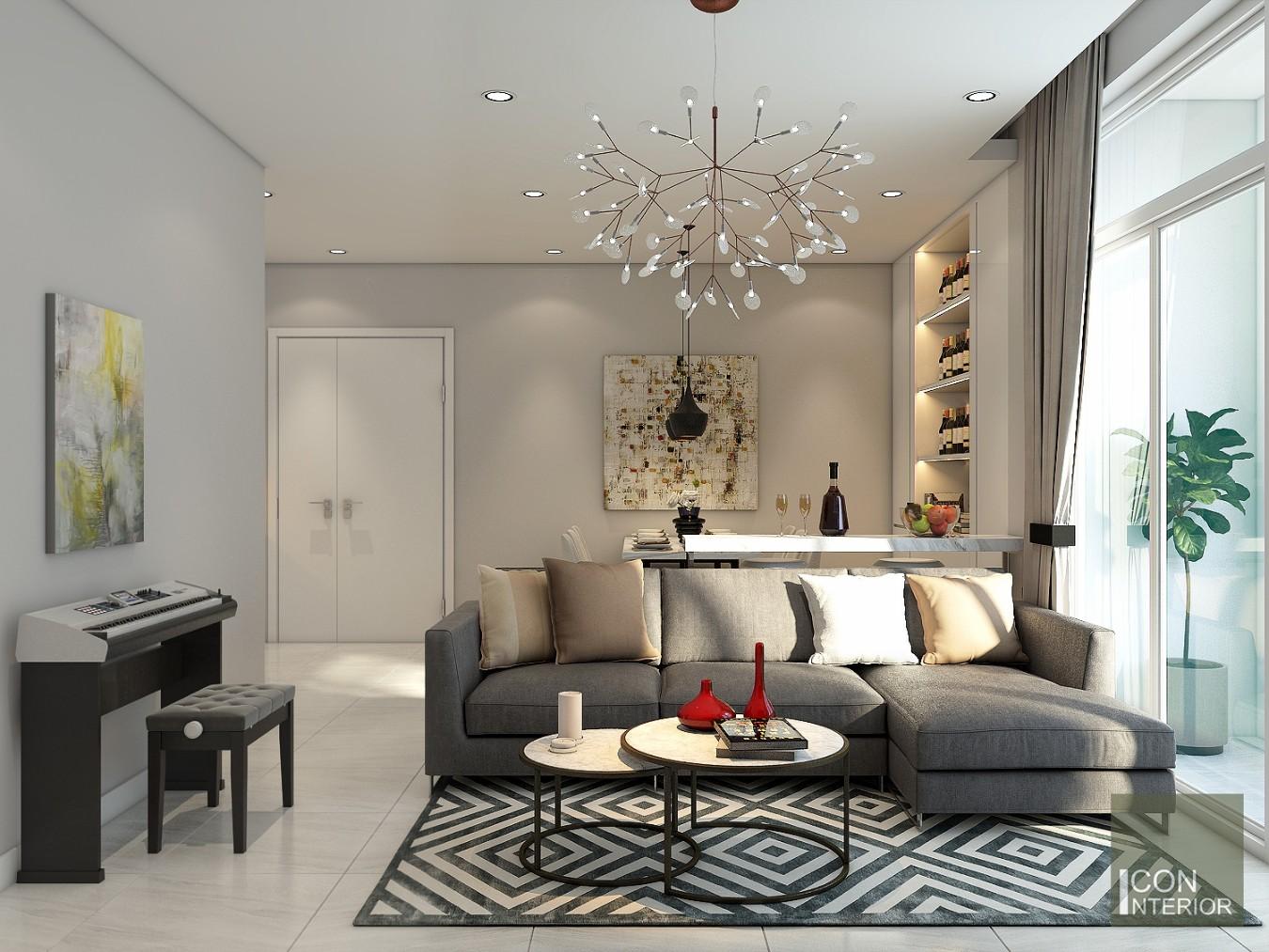 thiết kế nội thất biệt thự hiện đại - phòng khách