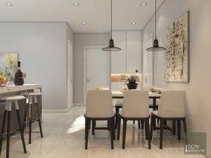thiết kế nội thất biệt thự hiện đại - phòng ăn