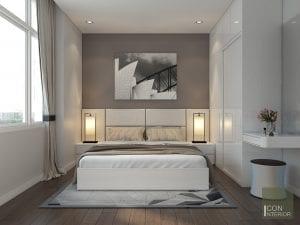 thiết kế nội thất biệt thự hiện đại - phòng ngủ