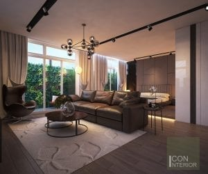 thiết kế nhà biệt thự mini - Phòng khách