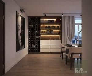 thiết kế nhà biệt thự mini - tiền sảnh