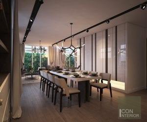 thiết kế nhà biệt thự mini - Phòng ăn