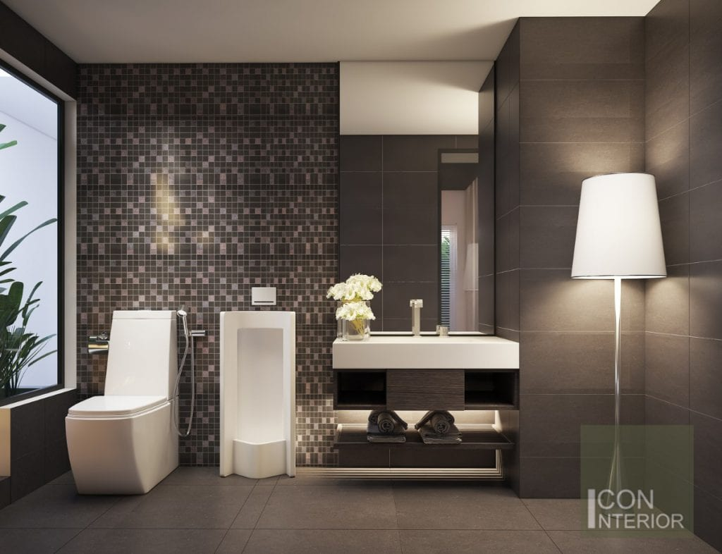 thiết kế nhà biệt thự mini - phòng tắm