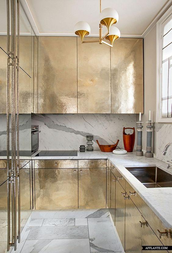 thiết kế nội thất chung cư sang trọng - kim loại đánh bóng 4