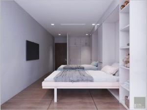 trang trí phòng ngủ cho bé trai giường thông minh