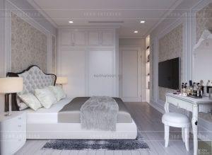 Thiết kế nội thất chung cư - phòng ngủ nhỏ