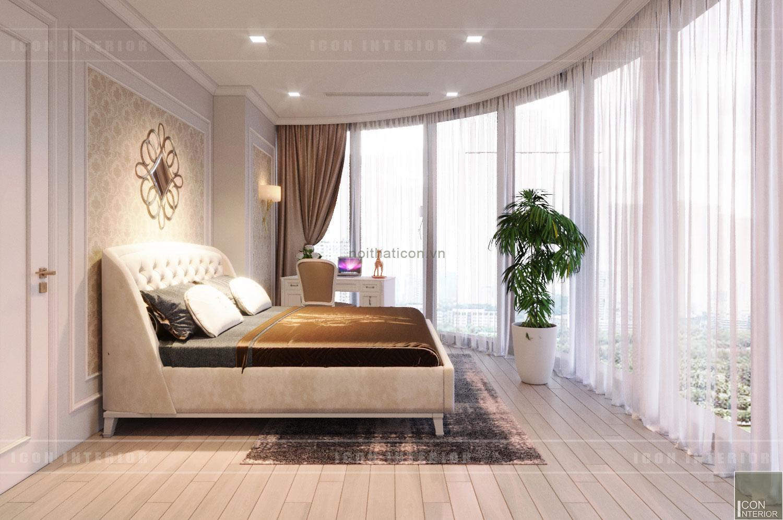 thiết kế nội thất tân cổ điển chung cư - phòng ngủ 1