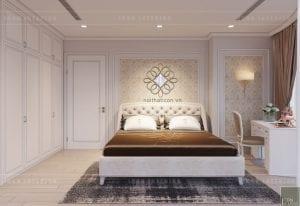 thiết kế nội thất tân cổ điển chung cư - phòng ngủ 2