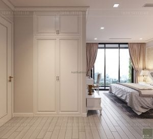 thiết kế nội thất tân cổ điển chung cư - phòng ngủ master 5