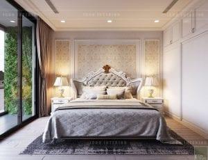 thiết kế nội thất tân cổ điển chung cư - phòng ngủ master 7