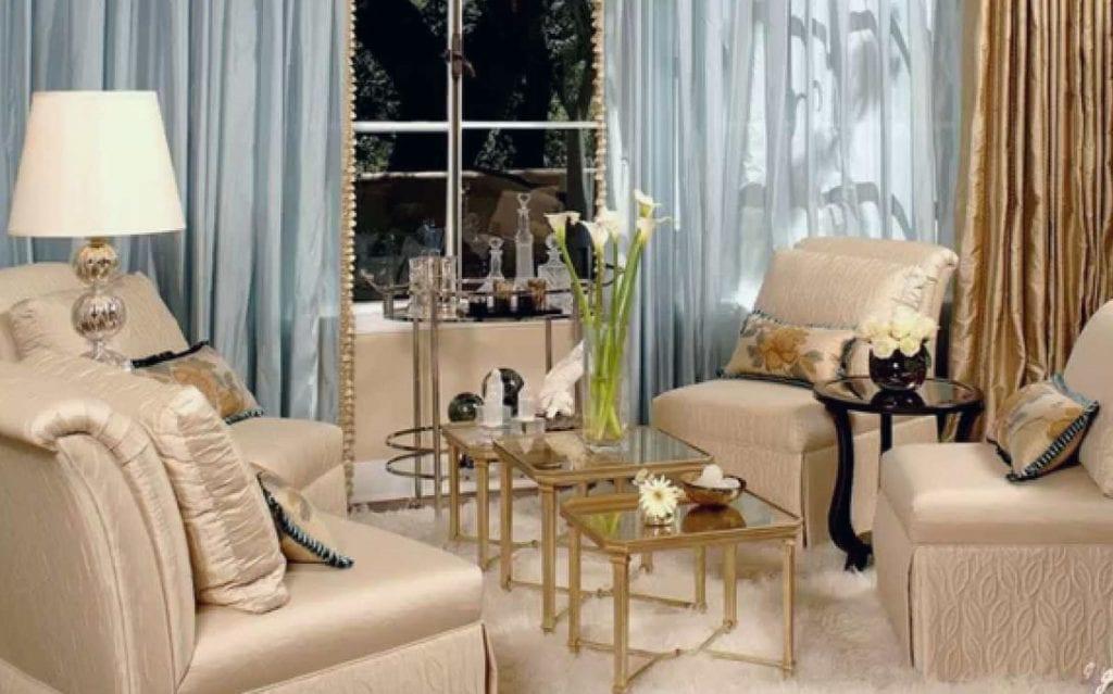Sofa phong cách Hollywood Glamour
