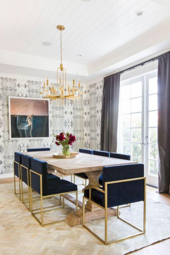 thiết kế nội thất chung cư sang trọng - họa tiết hình học 3