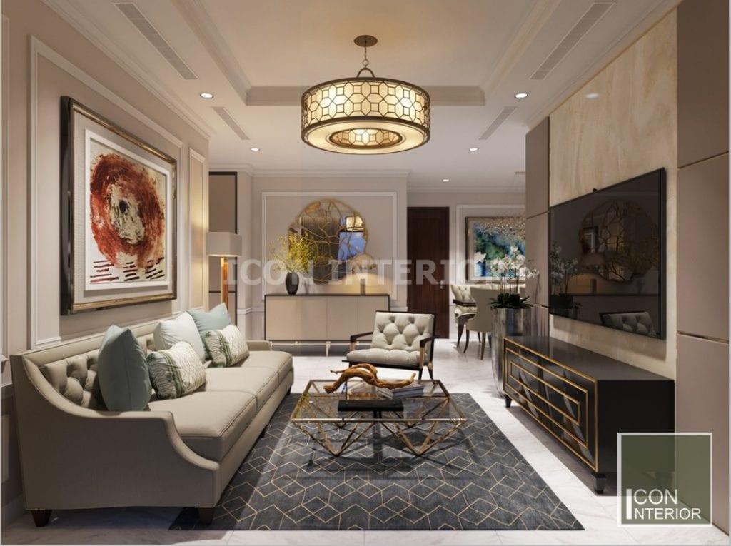 thiết kế nội thất phong cách châu âu vinhomes
