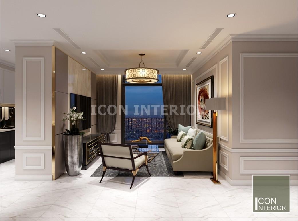 thiết kế phòng khách vinhomes central park