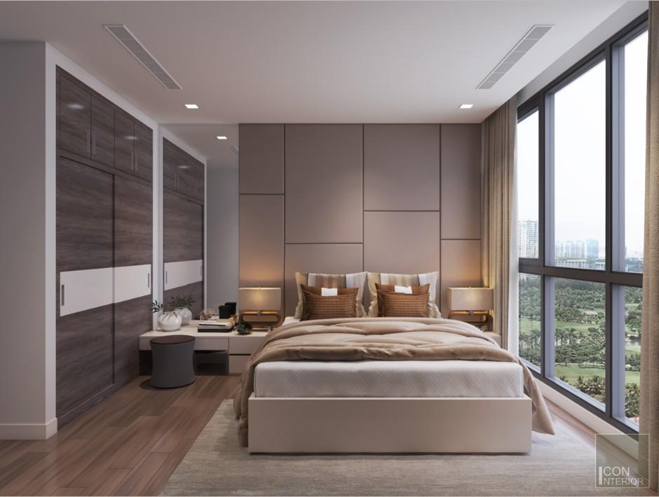 thiết kế nội thất nhà xinh - phòng ngủ master