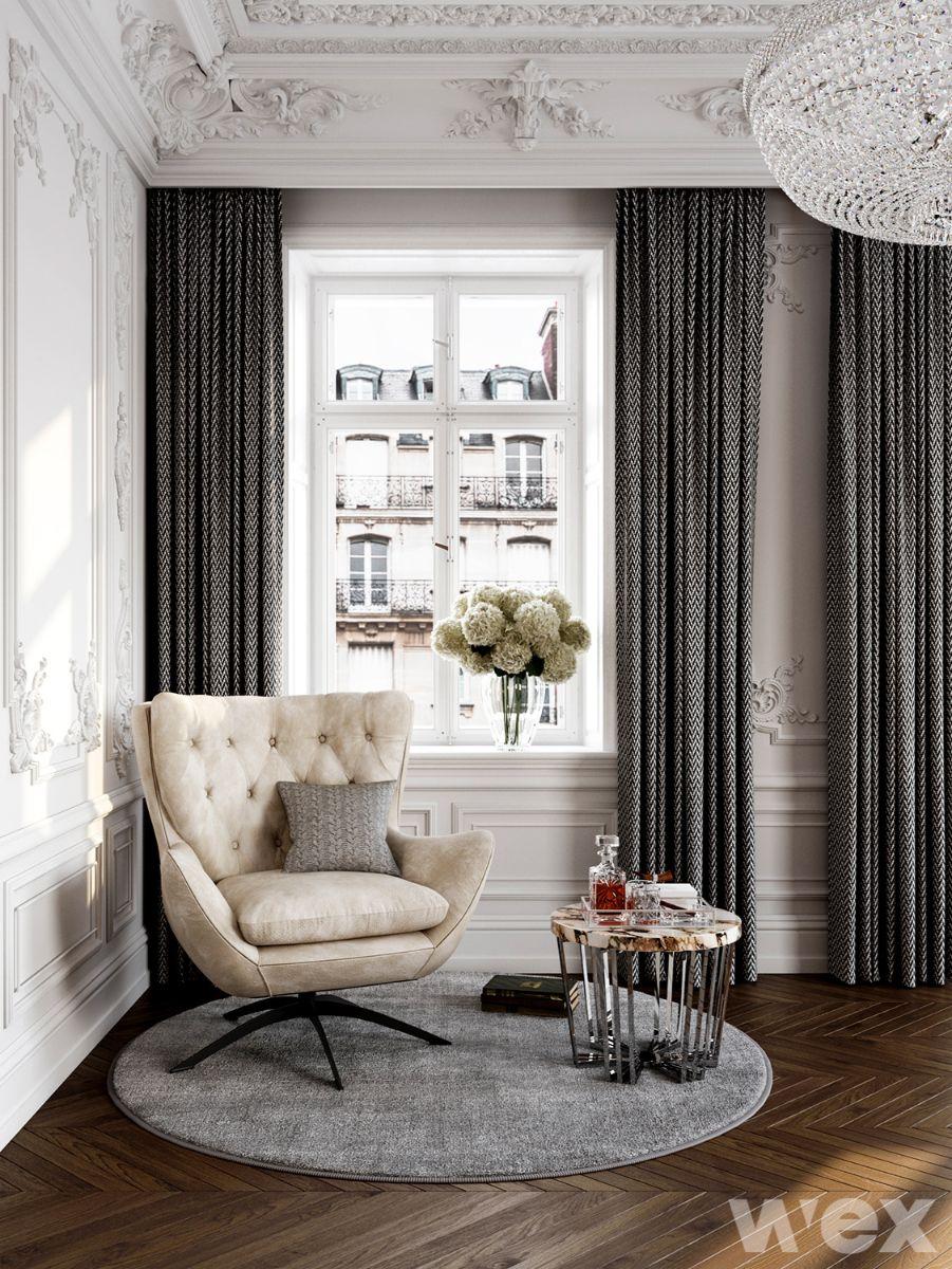 phong cách nội thất baroque góc thư giãn