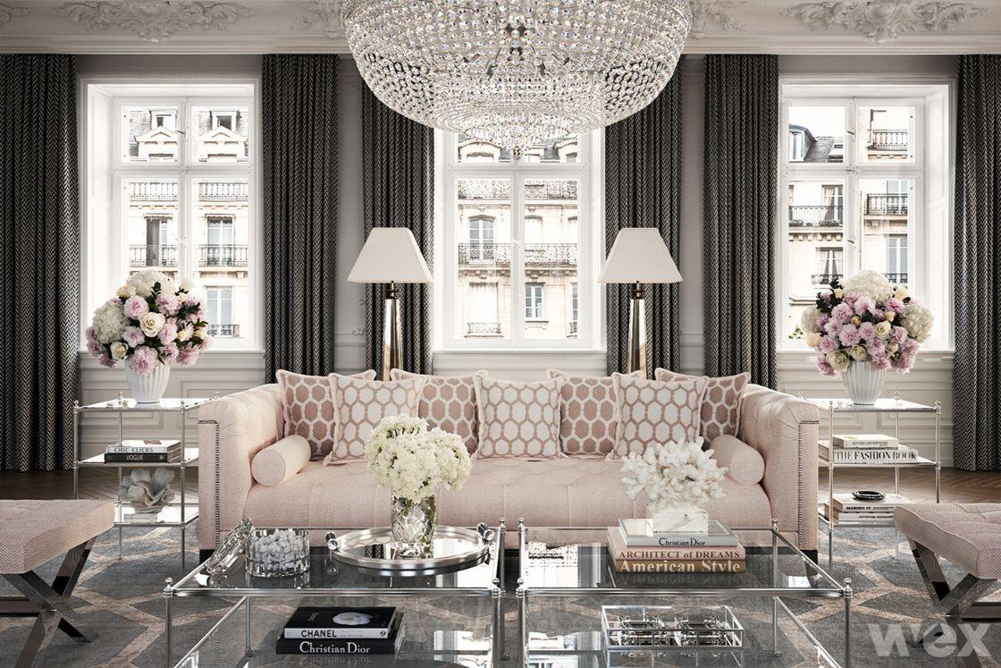 phong cách nội thất baroque phòng khách