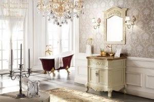 phong cách nội thất baroque phòng tắm