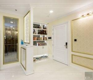thi công nội thất tân cổ điển vinhomes central park - tiền sảnh